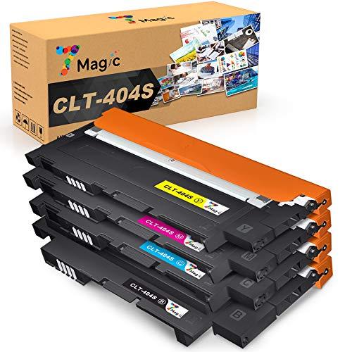7Magic CLT-404 Toner Compatibile con Samsung CLT-P404C/ CLT-404S,CLT-K404S CLT-C404S CLT-M404S CLT-Y404S Compatibile con Samsung Xpress SL C430W C430 C480FW C480W C480FN C480W stampanti(1B/1C/1Y/1M)