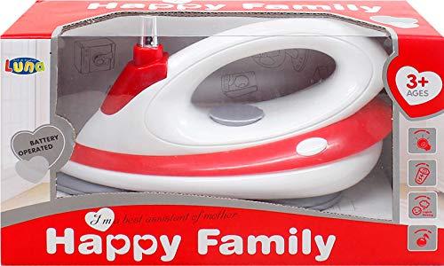 Luna Kinder Bügeleisen Happy Family Haushaltsgerät mit Funktionen +3J