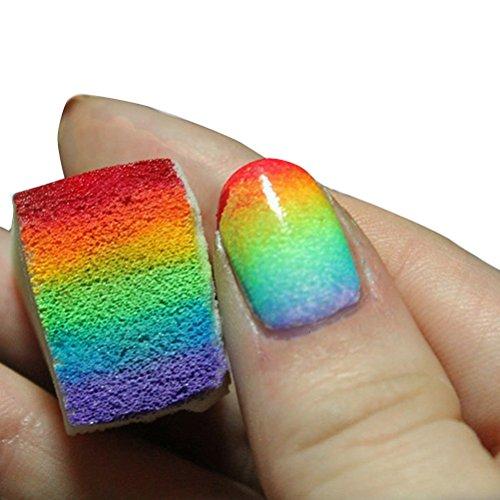 LEORX Gradient Nägel weiche Schwämme für Farbe verblassen Maniküre 12St