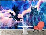 Papier peint 3d mural personnalisé science-fiction européenne château de dinosaures enfants chambre décor à la maison papier peint, 430x300 cm (169,3 par 118,1 po)