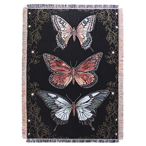 YunTu Butterfly Throw Blanket Big Woven Butterfly Blankets Cover for Couch Chair Furniture 50x70 inches Butterfly Gifts for Women