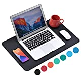 WAYBER Non-Slip Desk Pad (23.6 x 13.7'), Waterproof Desk Mat, PU Mouse Pad, Leather Desk Cover, Office Desk Protector, Desk Writing Mat for Office/Home/Work/Cubicle (Black)