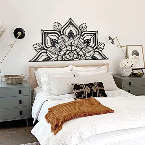 Hoagard Sutra Black Metal Wall Art, Metallwandkunst 153cm x 77cm, Schwarz | Metallwandkunst, Wanddekoration Metall Wanddeko für minimalistische und Moderne Schlafzimmer, Wohnzimmer