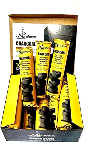 PUFF SMART Alsuhana Magic Coal Pack of 10 Roll Hookah Charcoals (Pack of 10)