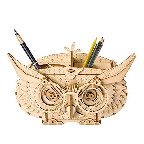 3D Wooden Puzzle DIY Wooden Model Kits, Educational Toy Gift for Adults and Kids, Gift and Home Décor (Owl Shortage Box)