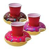 Posavasos hinchable para piscina 03 piezas - Donut