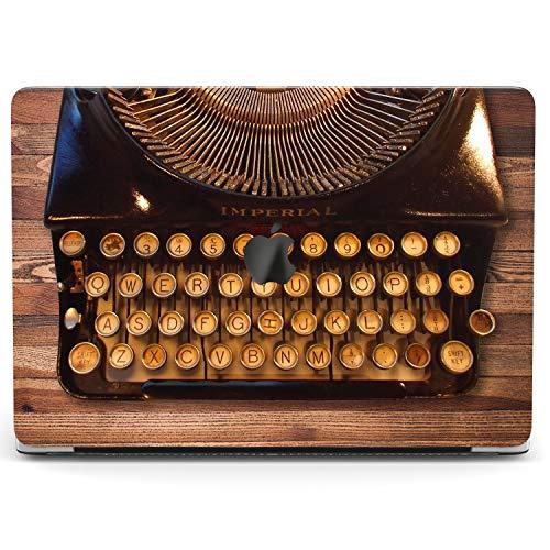 Wonder Wild Case for MacBook Air 13 inch Pro 15 2019 2018 Retina 12 11 Apple Hard Mac Protective Cover Touch Bar 2017 2016 2020 Plastic Laptop Print Retro Typewriter Steampunk Vintage Wooden Brown
