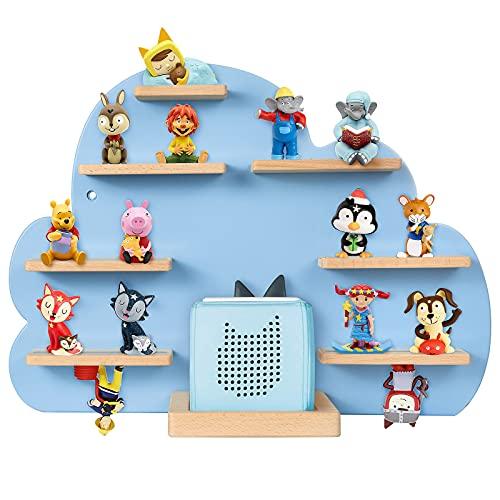 ZOEON Kinder Regal kompatibel mit Toniebox und kompatibel mit Tonies für über 30 Figuren - Wandregal für die Musikbox - zum Spielen und Sammeln - für Kinder Baby Zimmer