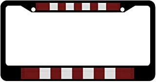 AllCustom4U Novelty License Plate Frame, Stainless Steel Car Tag Cover, Military License Plate Cover Holder for US Standard, 2 Holes & Screws