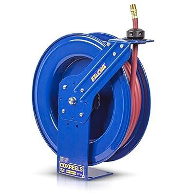 "Coxreels EZ-SH-350 Safety Series Spring Rewind Hose Reel for air/water: 3/8"" I.D., 50' hose, 300 PSI"