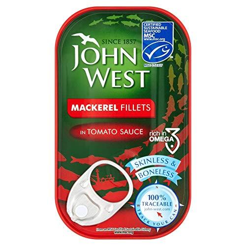 John West - Filetto di sgombro in pomodoro, 125 g x 10