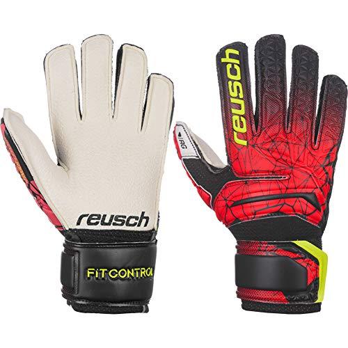 Reusch - Fußball-Spielerhandschuhe für Jungen in black/fire red, Größe 4