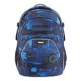 """coocazoo Schulrucksack ScaleRale """"Deep Matrix"""", blau, ergonomischer Tornister, höhenverstellbar mit Brustgurt und Hüftgurt für Jungs ab der 5. Klasse, 30..."""