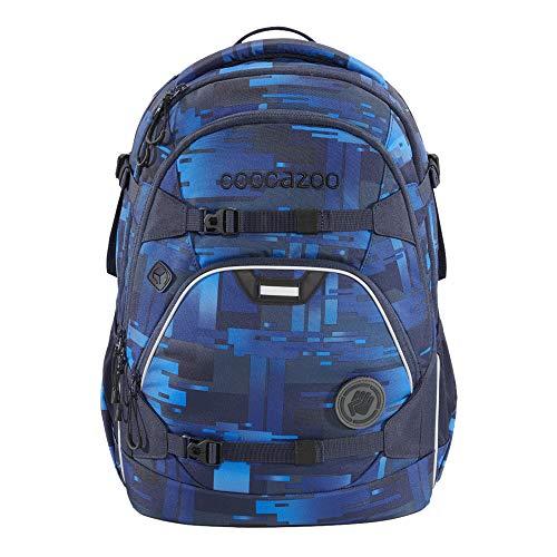 """coocazoo Schulrucksack ScaleRale """"Deep Matrix"""", blau, ergonomischer Tornister, höhenverstellbar mit Brustgurt und Hüftgurt für Jungs ab der 5. Klasse, 30 Liter"""