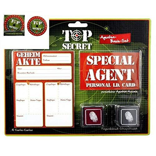wuselwelt 69360, TOP Secret Agenten Spielset mit Codierscheibe, Fall lösen, Verbrecher jagen, usw. super für den Kindergeburtstag, Kinderparty, usw