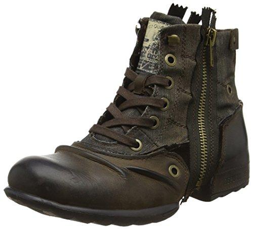 Replay Herren Clutch Biker Boots, Braun (Dk BRN Militar), 41 EU