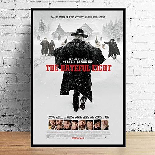 Póster E Impresiones The Hateful Eight Classic Movie Quentin Tarantino Art Painting Wall Pictures Sala De Estar Decoración para El Hogar 50X70Cm Ll-1778