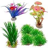 Cisolen 8 Piezas Acuario Plantas de Plástico Acuario Plantas de Artificiales Planta Artificial Acuario Plantas Plástico Peceras Decoración para Acuarios