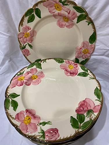 """Set of Two 10.5"""" Franciscan Desert Rose Ceramic Dinner Plates"""