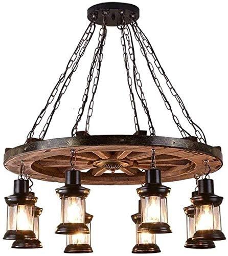 Lámpara de sala de estar de dormitorio Lámpara colgante retro, 8 cabezas de espiral de la vendimia Lámpara colgante, creativo retro de la personalidad del viento Industrial Mesa de Bar Barco lámpara d