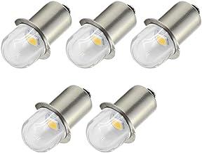 Ruiandsion Upgrade LED Zaklamp Lampen P13.5S Base Socket Warm Wit LED Lampen 3V/6V Vervanging voor Koplamp Zaklamp Lampen,...