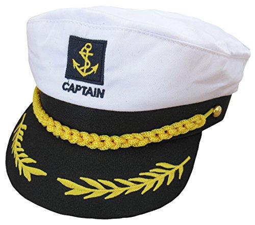 Funny World Men's Yacht Captain Hat