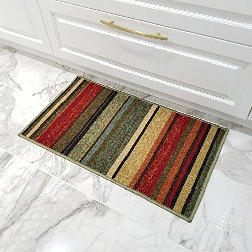 "top rated Rubber backing Color stripe Non-slip (non-slip) Entrance mat 18 ""x 31"" HMM5120 2020"
