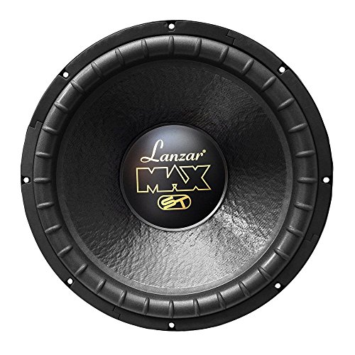 Lanzar 15in Car Subwoofer Speaker, Black Non-Pressed Paper Cone, Stamped Steel Basket, Dual 4 Ohm Impedance, 1200 Watt Power, Suspension for Vehicle Audio Stereo Sound System - MAX15D (Renewed)