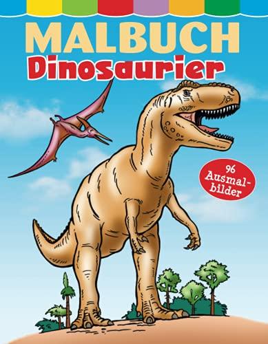 Malbuch Dinosaurier: 96 Ausmalbilder