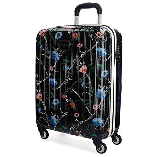Pepe Jeans Pasqui Maleta de cabina Multicolor 40x55x20 cms Rígida ABS Cierre TSA 38L 2,5Kgs 4 Ruedas Equipaje de Mano
