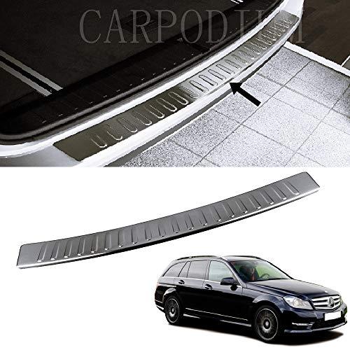 Chrome Protector de parachoques trasero S.Steel para Mercedes Clase C S204 Estate 2007-2014
