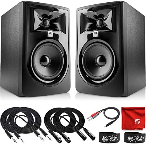 JBL Professional 305P MkII Next Generation 5 Inch 2 Way Powered Studio Monitor Pair Bundle with product image