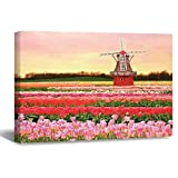 Lienzo para pared, diseño de tulipanes de Ámsterdam, 40 x 60 cm