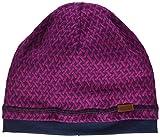 maximo Mädchen GOTS Beanie aus gemustertem Jersey Mütze, Rosa (Dunkel Pink Meliert 87), (Herstellergröße: 55)