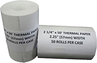 50 Receipt Paper Rolls for First Data FD400 and Nurit 8000 Credit Card Terminals