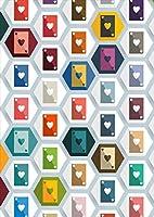 igsticker ポスター ウォールステッカー シール式ステッカー 飾り 841×1189㎜ A0 写真 フォト 壁 インテリア おしゃれ 剥がせる wall sticker poster 008811 ユニーク 模様 カラフル トランプ ハート