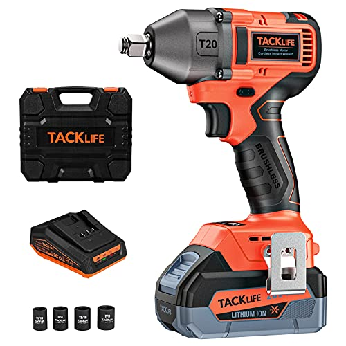 Tacklife 20V Brushless High Torque Impact Wrench Kit Now $108 (Was $170)