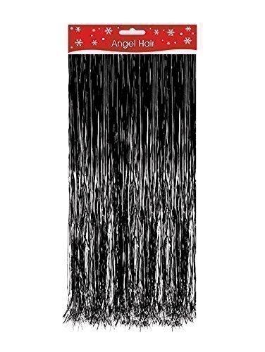 Schwarz Weihnachtsdekoration Engelshaar Lametta Dekoration Baum