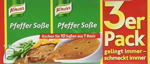 Knorr Pfeffer Soße 3 x 250 ml, 15er-Pack