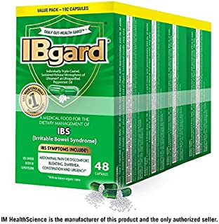 IBgard® for Irritable Bowel Syndrome (IBS) Symptoms Including, Abdominal Pain, Bloating, Diarrhea, Constipation, 48 Capsules (4 Pack)