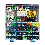 RoseFlower 146 Piezas Kits de señuelos para Pesca Cebos Artificiales de Pesca Cebo Duros/Suaves Incluye Ranas, Giratorios, Cuchara, Anzuelos - Pesca Accesorios para Pesca de Trucha, Bagre y Lucio