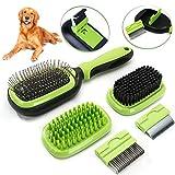 SAMMIU <span class='highlight'>Pet</span> <span class='highlight'>Grooming</span> <span class='highlight'>Brush</span> 5 in 1 <span class='highlight'>Pet</span> Massage Kit Dog <span class='highlight'>Brush</span> Cat <span class='highlight'>Brush</span> Bath/Bristle/Pin <span class='highlight'>Brush</span> Dog <span class='highlight'>Deshedding</span> <span class='highlight'>Tool</span> Dematting Comb <span class='highlight'>for</span> Dog and Cat with Long or Short Hair
