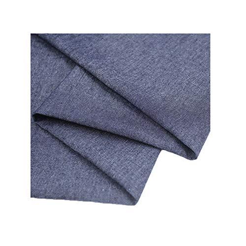 MAGFYLY Jeansstoff meterware Denim Stoff gewaschen Baumwolle Stretch gut Sommer Dünnschnitt genäht Denim Hemd Jacke Shorts Rock 150cm breit (Color : Dark Navy Blue)