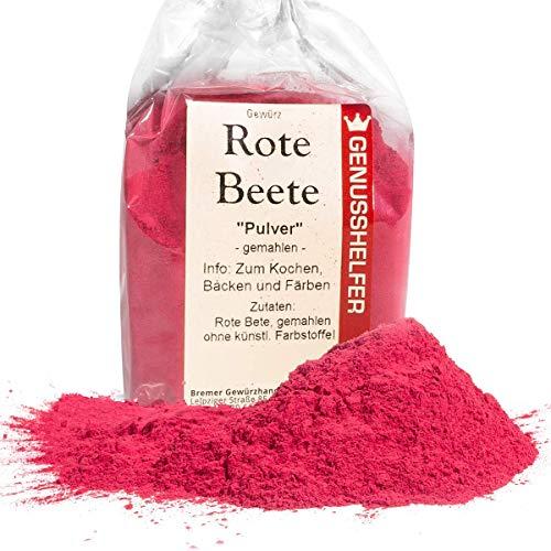 Rote Beete Pulver 100 Gramm gemahlen, natürliche Lebensmittelfarbe aus roter Bete - ohne Zusatzstoffe - Bremer Gewürzhandel