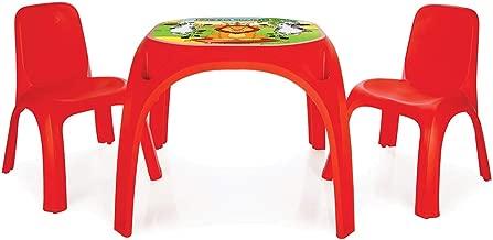 Pilsan King Masa İki Sandalyeli, Kırmızı (03 422)