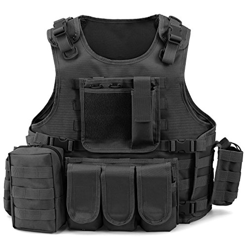 Barbarians MOLLE Tactical Vest Military Airsoft Paintball Tactical Vest Outdoor Adjustable
