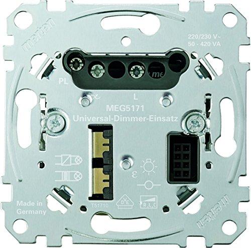 Preisvergleich Produktbild Merten MEG5171-0000 Universal-Dimmer-Einsatz,  Metallisch