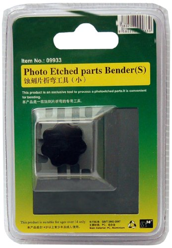 Master Tools 09933 - Modellbauzubehör Photo Etched Parts Bender, Biegehilfe für Fotoätzteile, S, grau