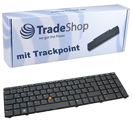 Original Laptop-Tastatur mit Trackpoint Notebook Keyboard Ersatz Deutsch QWERTZ für HP EliteBook 8770P 8760P 8760W Serie (Deutsches Tastaturlayout)