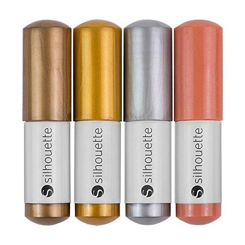 4 penne colori metallizzati per Plotter Cameo, Portrait e Curio